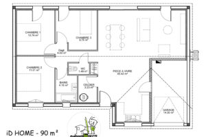 maison individuelle Idhome plan 90m²