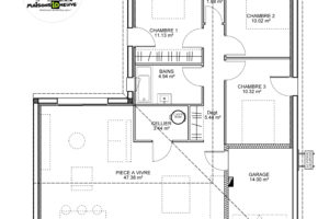 maison individuelle Idhome plan 95m²