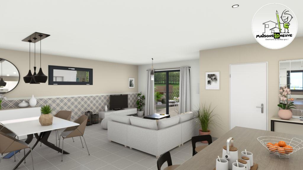maison individuelle Idneuve salon