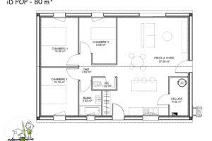 maison individuelle Idpop 80m²