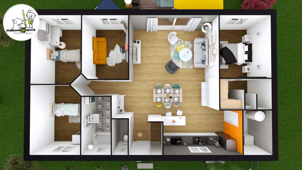 Projet maison individuelle ID LYS axono