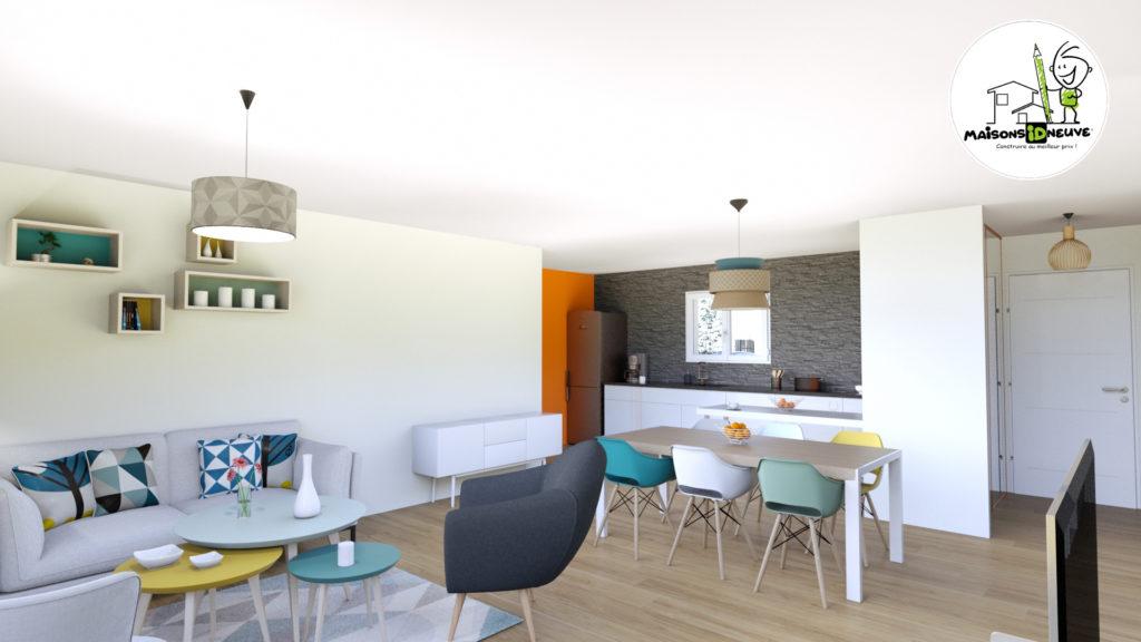 Projet maison individuelle ID LYS salon