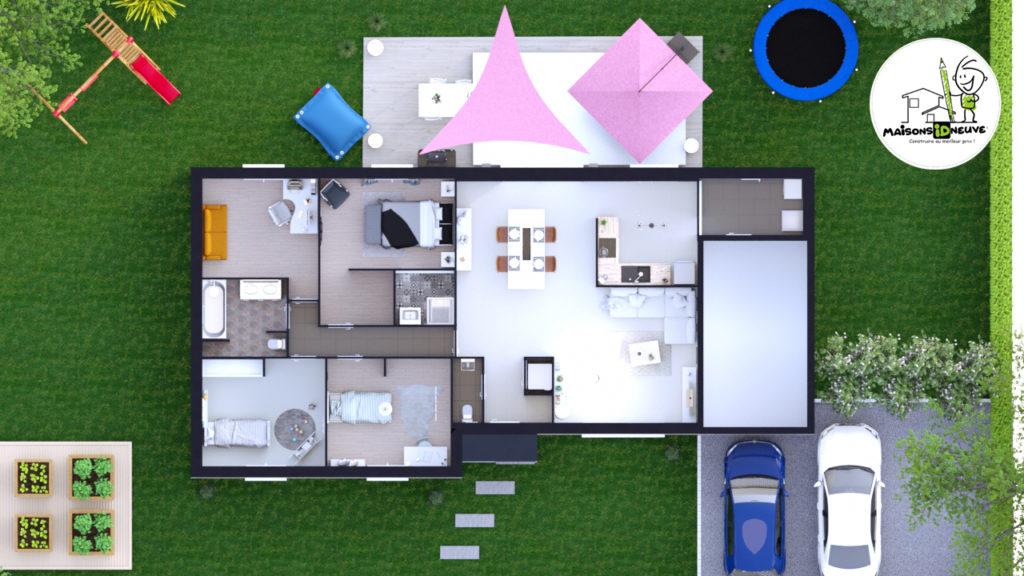 Projet maison individuelle ID PRI axono