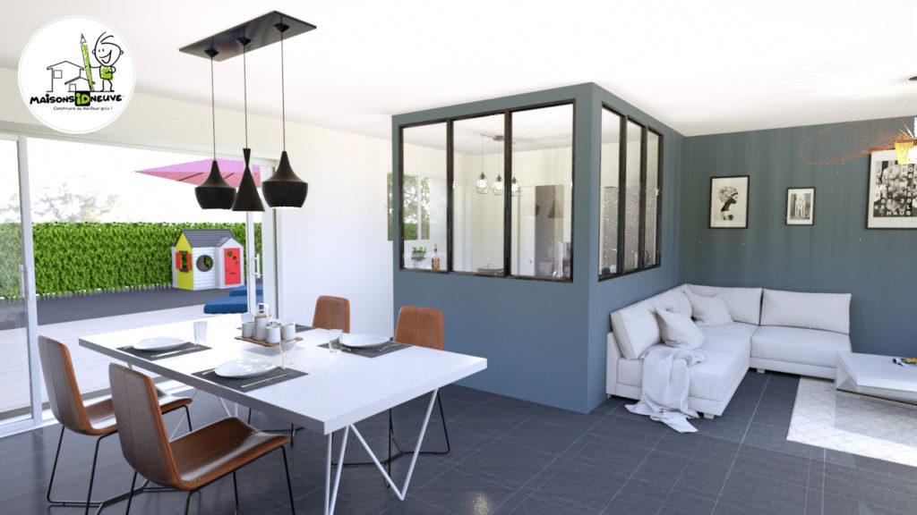 Projet maison individuelle ID PRI salon