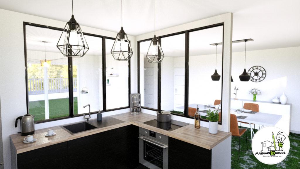 Projet maison individuelle ID PRI cuisine