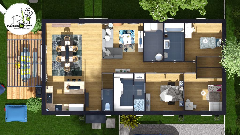 Projet maison individuelle ID RIO axono