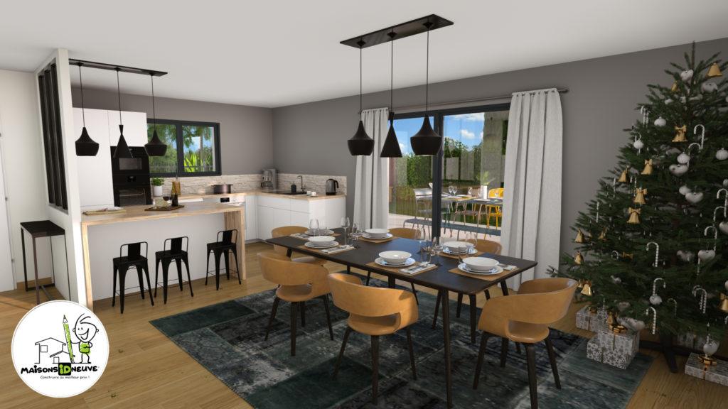 Projet maison individuelle ID RIO salon