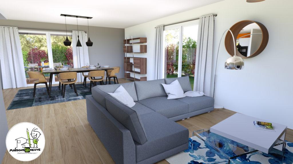Projet maison individuelle ID RIO intérieur