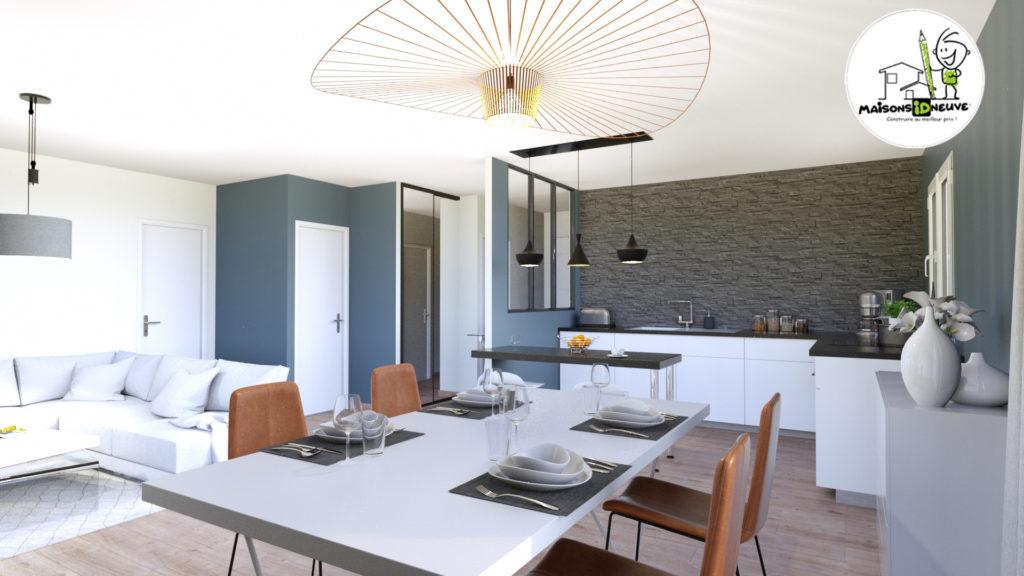 Projet maison individuelle ID ROM intérieur