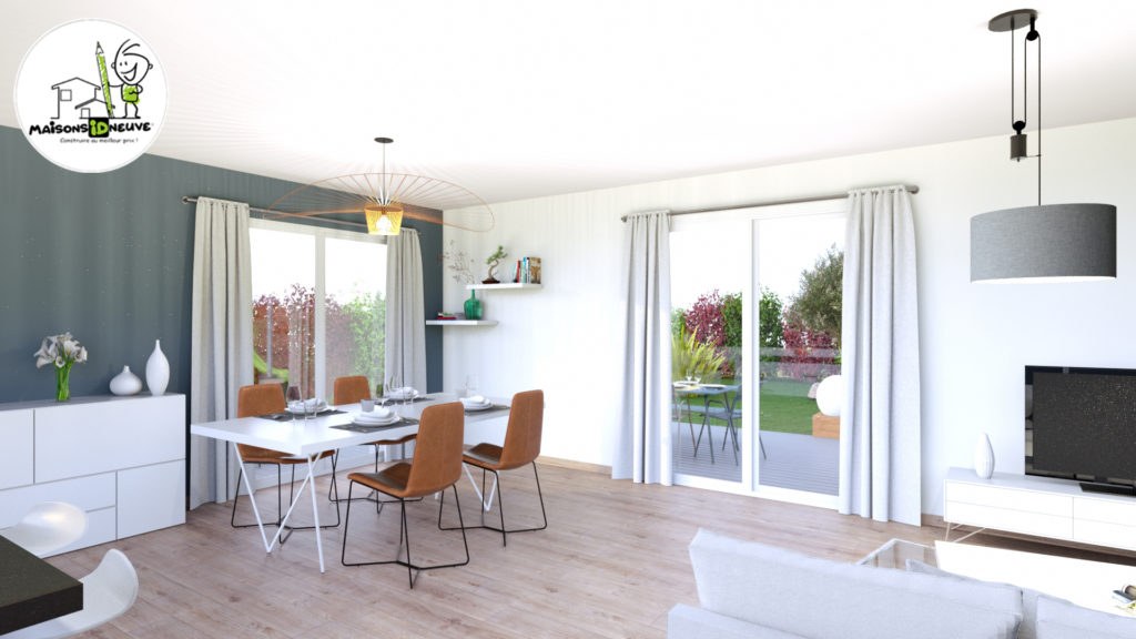 Projet maison individuelle ID ROM salon